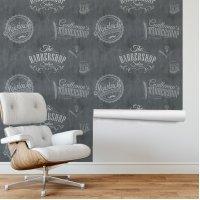 Barber Shop Wallpaper Gray F703-049-3