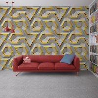 Geometric 3D Effect Wallpaper FD-018-3