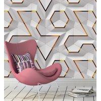 Geometric 3D Effect Wallpaper FD-018-6