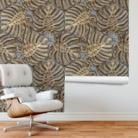 Decorative Wood Leaves Wallpaper FD-020-01
