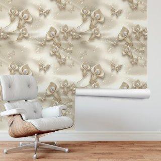 3D Pearl Roll Wallpaper FD-034-1