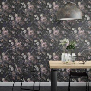 Black Background Roses Wallpaper FD-103-40