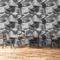Concrete Blocks Roll Wallpaper 2 - Textured Surface FD-201-56