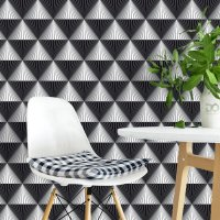 Geometric Lines Diamond Wallpaper FD-202-03