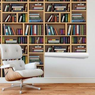 Bookshelf Wallpaper FD-206-01
