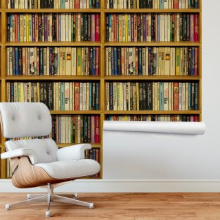 Bookshelf Wallpaper FD-206-02
