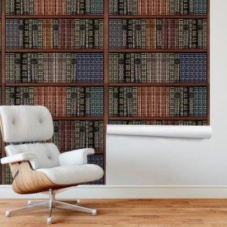 Bookshelf Wallpaper FD-206-05