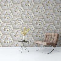 3D Geometric Leather Wallpaper FD-21-01