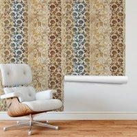 Oriental Flower Pattern Wallpaper FD-803-01