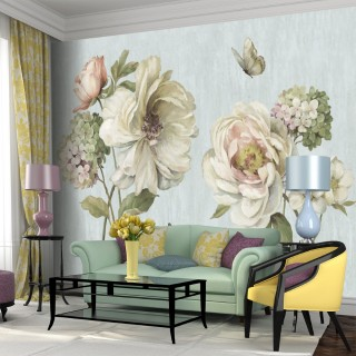 Big Flowers Wall Poster