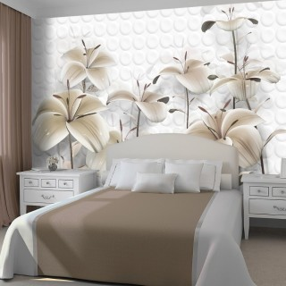 Flowers with 3D Effect Wallpaper