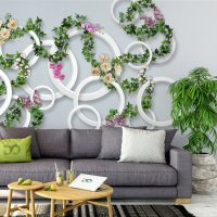 3D Rings and Vines Wallpaper