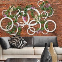 3D Rings and Vines Wallpaper 3