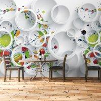 Rings and Roses 3D Wallpaper 3