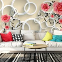 Rings and Roses 3D Wallpaper