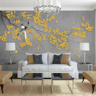 Wallpaper Tree Branch and Birds