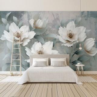 Tapete der Blätter und der Blumen des Effekt-3D
