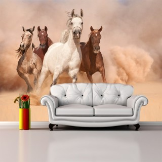 Running Horses 3D Wallpaper