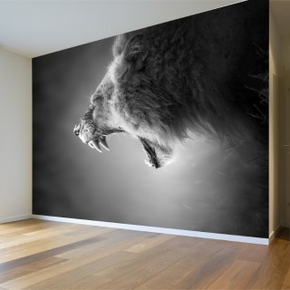 Lion Roaring Wall Poster