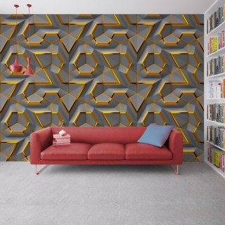 Geometric Wallpaper - Embossed Effect