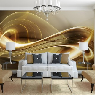 Gold Flow Wall Poster
