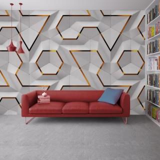 Geometric Wallpaper - Embossed Effect