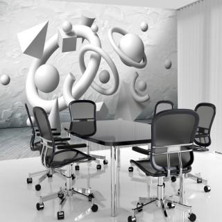 3D Geometric Depth Wallpaper