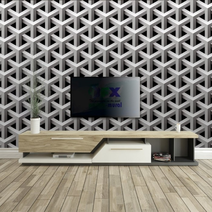 Knit Wallpaper with Geometric 3D Effect
