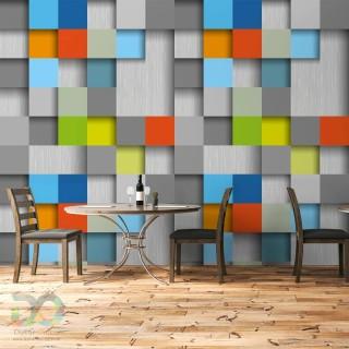 Colorful Squares Geometric Wallpaper