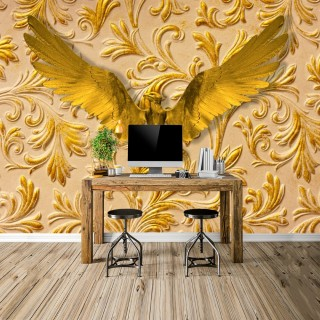 3D Golden Eagle Wall Poster