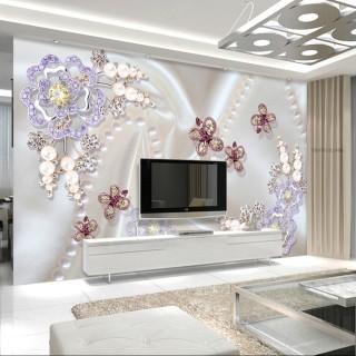 3D Diamond Cubic Zirconia Wallpaper