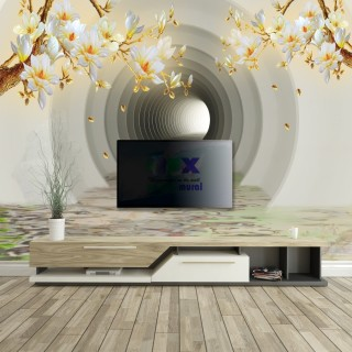 3D Tunnel Depth Wall Poster