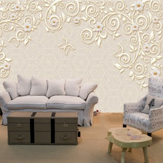 3D Embroidered Wallpaper