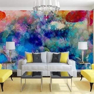 Abstract Sea Wall Poster