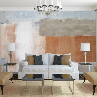 Brown and Gray Abstract Design Wall Poster