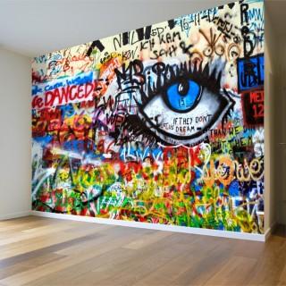 Blue Eye Graffiti Wall Poster
