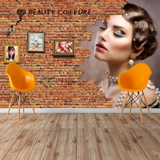 Custom Design Ladies Hair Salon Wallpaper