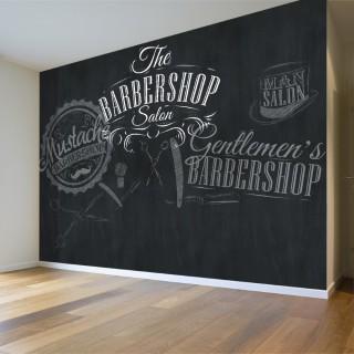 Barbershop Wallpaper - Black Background