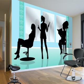 Barber Shop Silhouette - Wall Poster