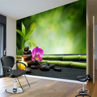 Candle and SPA Stones - Wall Poster
