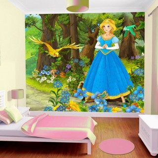 Wallpaper Princess Kids Room in the Forest