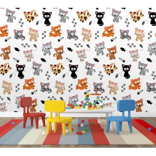 Animal Patterned Kids Room Wall Poster