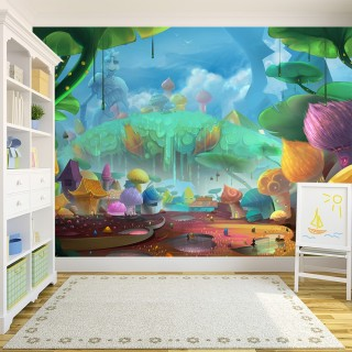 Kids Room Enchanted Forest Wall Poster