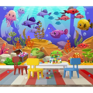 Fish Under The Sea Wall Poster