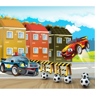 Police Car Wall Poster