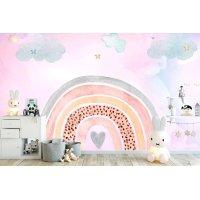 Rainbow Kids Room Wallpaper