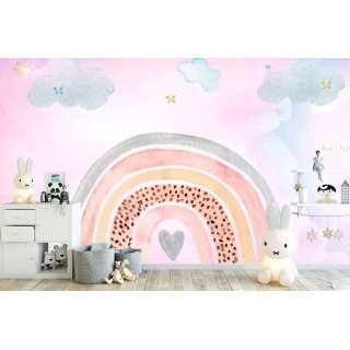 Rainbow Kids Room Wallpaper
