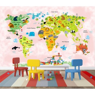 World Map for Kids Room 03
