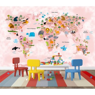 World Map for Kids Room 05