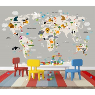 World Map for Kids Room 06